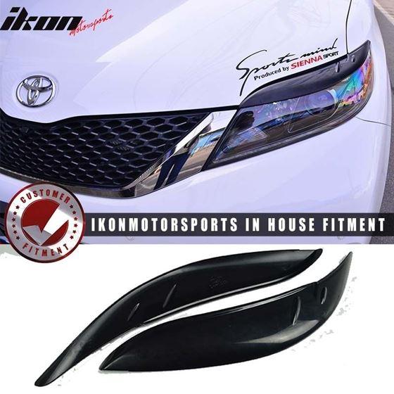11 17 Toyota Sienna Citykruiser Mp Black Headlight Eyelids