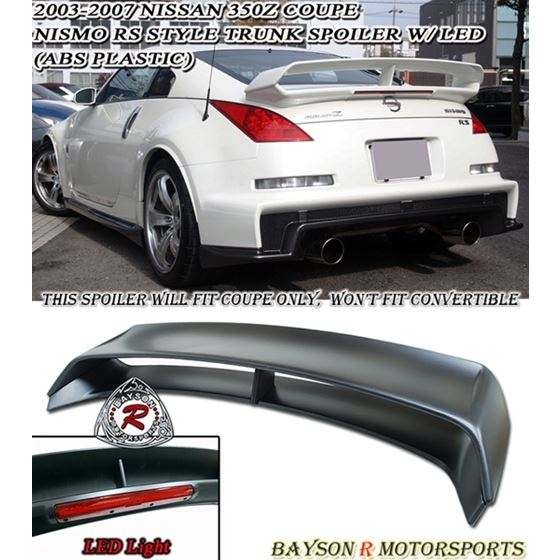 03 08 Nissan 350z Z33 Fairlady Nismo 380rs Style Spoiler W Led Abs